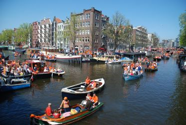 Queensday on canals